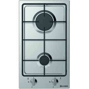 Stainless steel Domino Gas Hob, 2 Pi-Nc30 Fires 2g