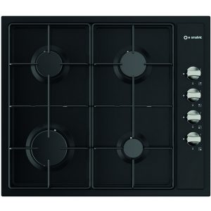 4 Burners 60 cm Enamelled Hob, Pi-Nc63 4g Vs Black