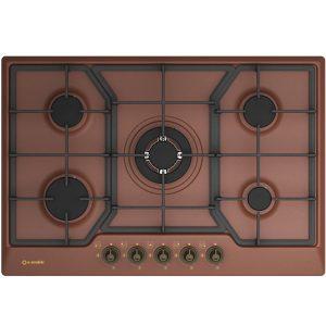 5 burners Enamelled Gas Hob Pd-75v4g1tc Copper 501 Gl-Mr62