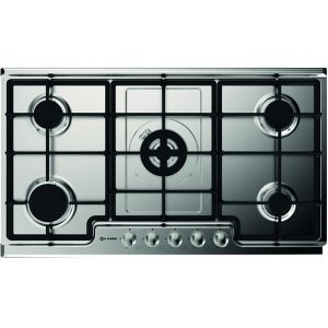 Gas Stainless steel Hob with frontal control Panel Pd-90v4g1dc Inox Gg