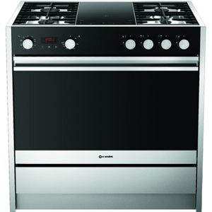 Stainless steel Free Standing kitchen with  2  induction Zones Cu Less 900 Mt 4g2i