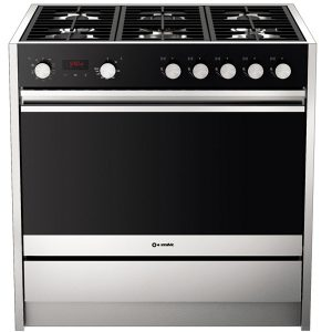 6 Burners free standing kitchen Cu Less 900 Mt 6g stainless steel