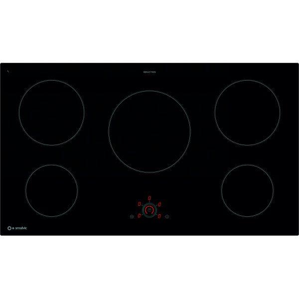 90 cm Induction Hob PVC 90 5IND BIS950RT Black