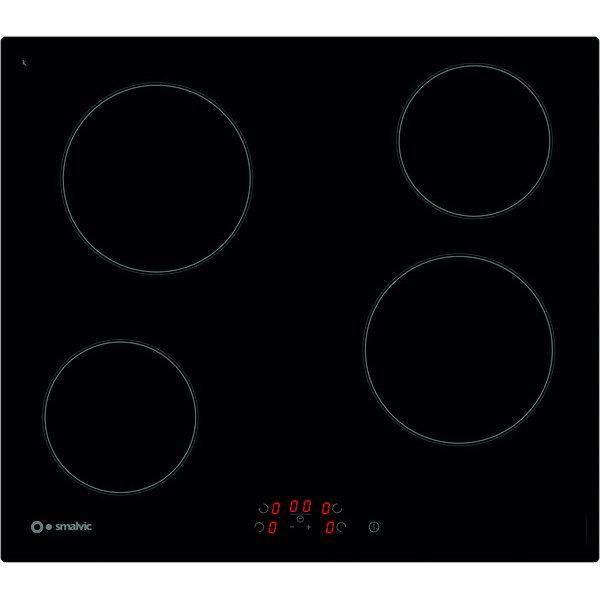 Hob with Ceramic Glass Pvc Power Limiter 60 4hl Bte64et Black