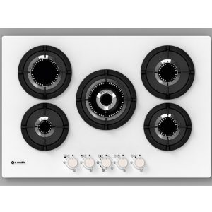 75cm Hob, 5 Burners, vertical Flame Pc-M75v4g1tcd4 White