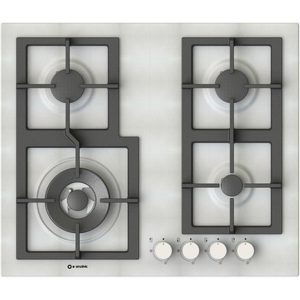5 Burners Enamelled Hob, Pi-Z60v3g1tc Quadro Pure white