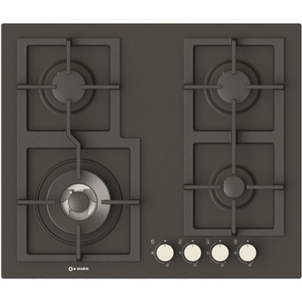 4 Burners Enamelled Hob Pi-Z60v3g1tc Quadro slate color