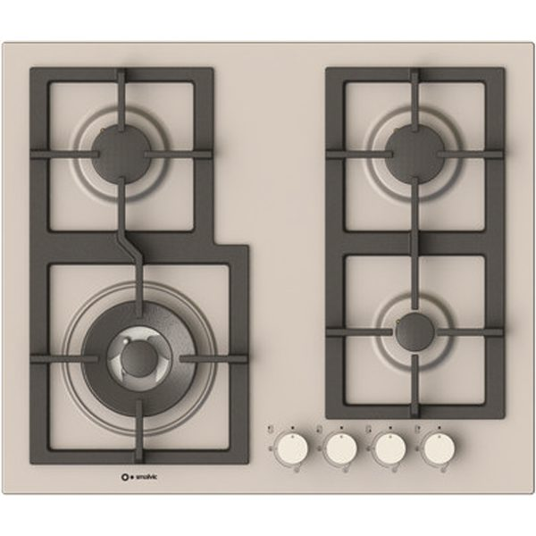 Stainless steel Hob 60cm,4 Burners Pi-Z60v3g1tc Quadro Stainless steel