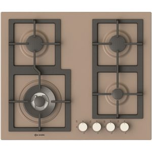 Gas Hob with Cast iron grids-Pi-Z60v3g1tc Quadro Dove grey