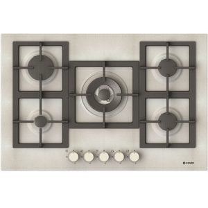 5 Burners Enamelled Hob  5, Pi-Z75v4g1tc Quadro Pure white