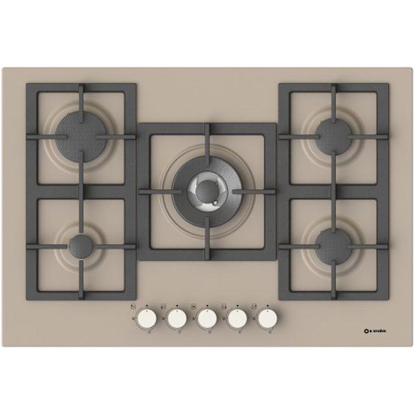 Hob with high Efficiency Burners  Pi-Z75v4g1tc Quadro Dove grey