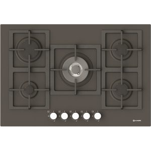 Enamelled Hob with cast iron grids  Pi-Z75v4g1tc Quadro slate color