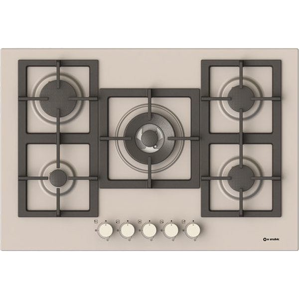 Stainless steel Hob with cast iron grids  Pi-Z75v4g1tc Quadro Inox