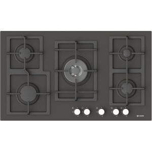 90 cm Enamelled 5 Burners Hob-Pi-Z90v4g1tc Quadro Slate color