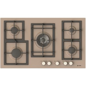 5 Burners Gas cooking Hob Pi-Z90v4g1tc Quadro Dove grey