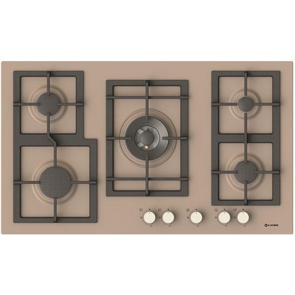 5 Burners Gas cooking Hob Pi-Z90v4g1tc Quadro Dove grey