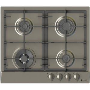 60 cm Stainless steel Hob, 4 Burners with Gas-Pi-Zw60v3g1tc
