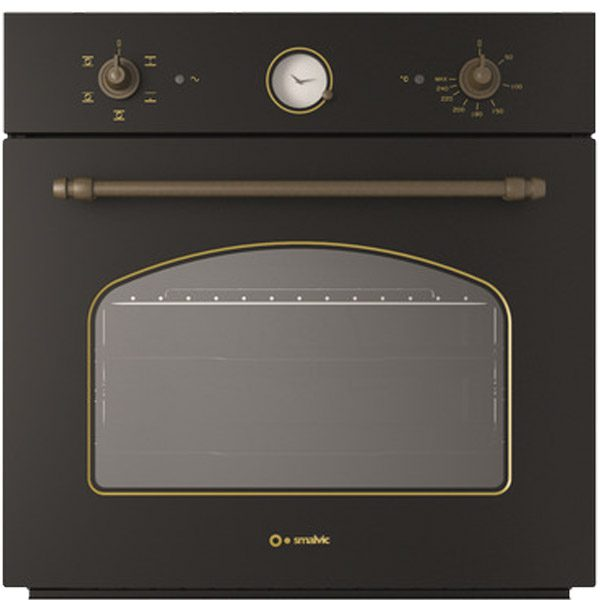 Electric oven with rear Anthracite finish Fi-64wtr Country Black