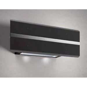 Glass and stainless steel Hood with Timer Inlinear Black -  800mc