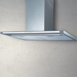 90 cm Low noise Glass Kitchen Hood Flat White-800 Mc