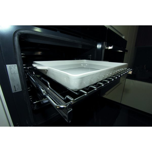 Glossy white Baking tray in Gres  34x24 H60